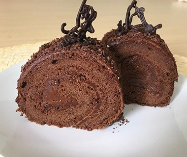 Roll Cake Double Choco Glutenless Front