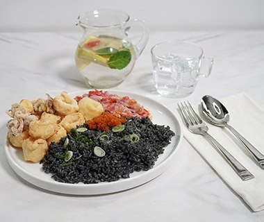 Squid Ink Rice Front
